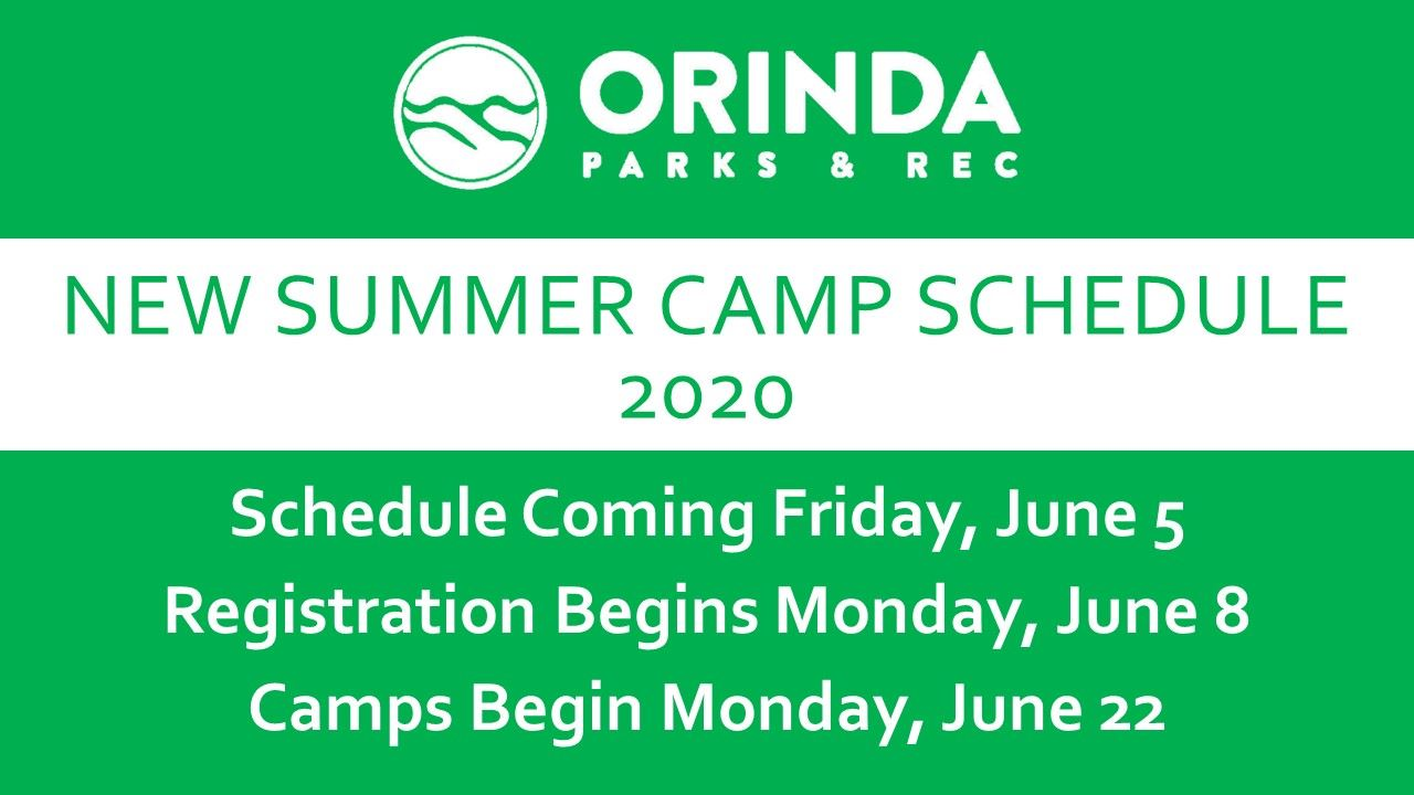 Summer Camp Schedule Announcement